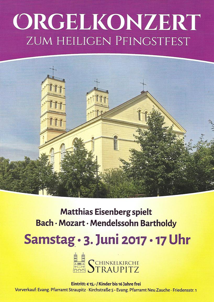 Konzert zunm Pfingstfest mit Matthias Eisenberg